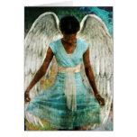 Ángel humilde tarjeta