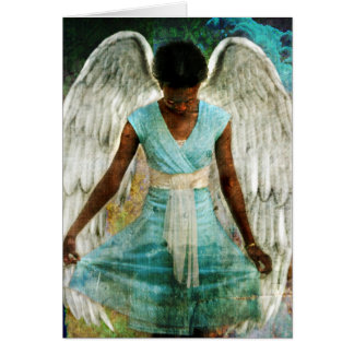 Ángel humilde tarjeta de felicitación