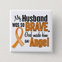 Angel Husband Leukemia Button