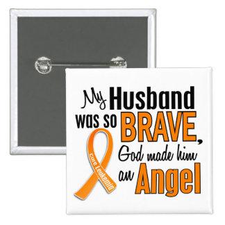 Angel Husband Leukemia 2 Inch Square Button