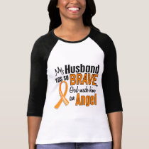 Angel Husband Leukemia T-Shirt