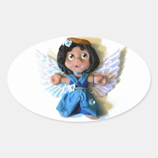 Ángel I de Krystal Pegatinas De Óval Personalizadas