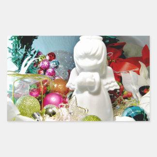Ángel I del navidad Pegatina Rectangular