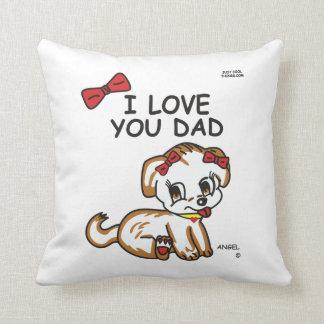 Angel I Love You Dad Pillow