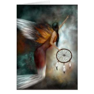 Ángel ideal del nativo americano del colector tarjeta de felicitación