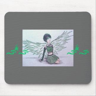 """Ángel imperfecto"" Mousepad (verde)"