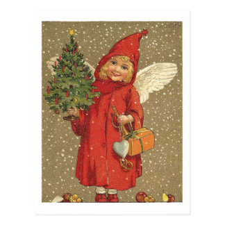 Angel in A Red Coat Post Cards