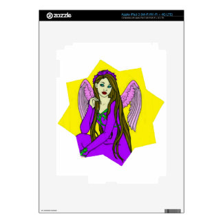 Angel in a star decals for iPad 3