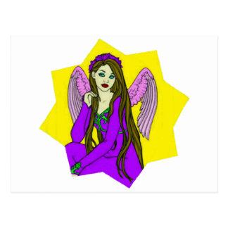 Angel in a star postcard