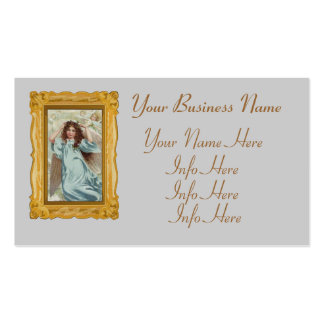 Angel In Blue Dress And Flower Garland Double-Sided Standard Business Cards (Pack Of 100)