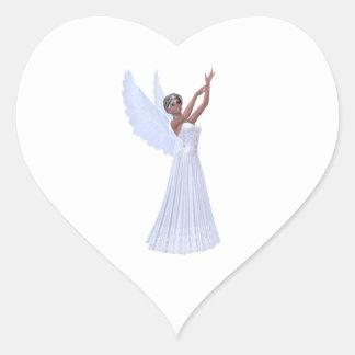 Angel in Blue Heart Sticker