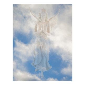 Angel in blue heaven cloudy sky by healing love letterhead