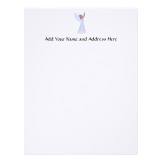 Angel in Blue Letterhead