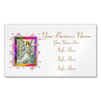 Angel In Blue Magnetic Business Card