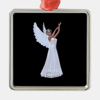Angel in Blue Ornament