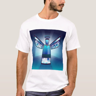Angel In Blue Stained Glass T-Shirt