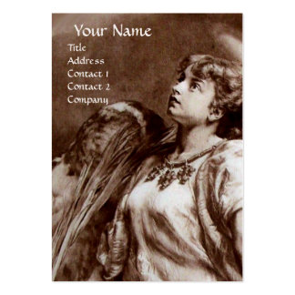 ANGEL IN BROWN , WHITE PEARL PAPER LARGE BUSINESS CARDS (Pack OF 100)