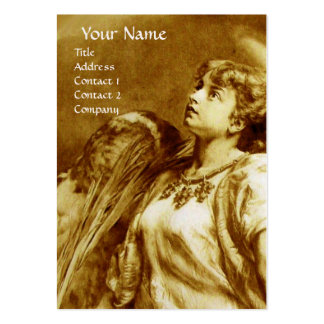 ANGEL IN BROWN YELLOW , WHITE PEARL PAPER LARGE BUSINESS CARDS (Pack OF 100)