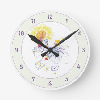Angel in Candle Light Wall Clock