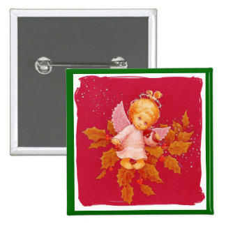 Angel In Christmas Pinback Button