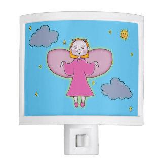 Angel In Clouds Nite Lights
