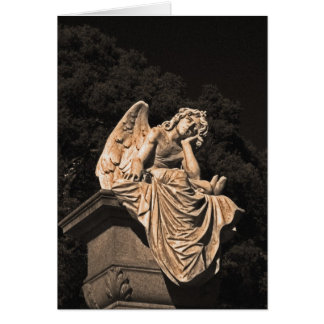 angel in contemplation card