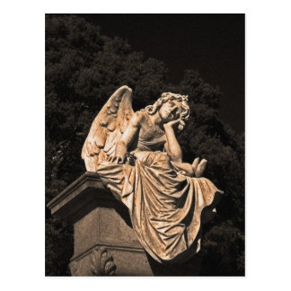 angel in contemplation postcard