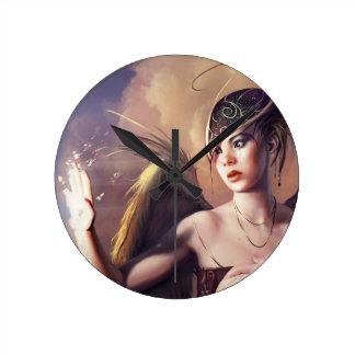 Angel In Despair Round Clocks