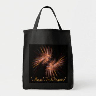 Angel In Disguise Grocery Tote Bag