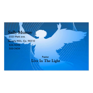 Angel In Flight On Blue Business Card Template