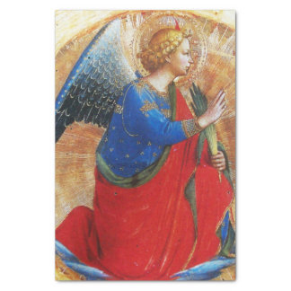 "ANGEL IN GOLD RED AND BLUE 10"" X 15"" TISSUE PAPER"