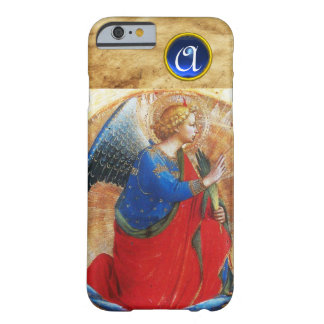 ANGEL IN GOLD RED AND BLUE GEMSTONE MONOGRAM BARELY THERE iPhone 6 CASE
