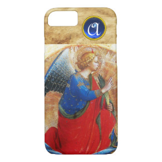 ANGEL IN GOLD RED AND BLUE GEMSTONE MONOGRAM iPhone 8/7 CASE