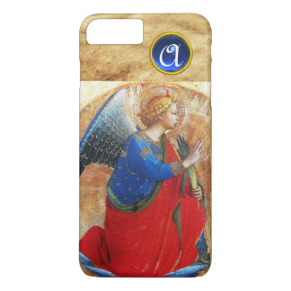 ANGEL IN GOLD RED AND BLUE GEMSTONE MONOGRAM iPhone 8 PLUS/7 PLUS CASE