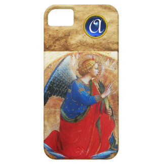 ANGEL IN GOLD RED AND BLUE MONOGRAM iPhone 5 COVERS
