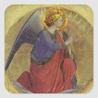 Angel in Gold Square Sticker