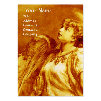 ANGEL IN GOLD YELLOW , WHITE PEARL PAPER LARGE BUSINESS CARDS (Pack OF 100)