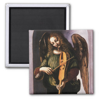 Angel in Green with a Vielle by Leonardo da Vinci Magnet