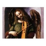 Angel in Green with a Vielle by Leonardo da Vinci Postcards