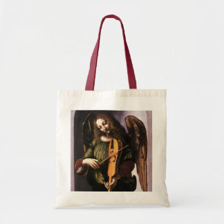 Angel in Green with a Vielle by Leonardo da Vinci Tote Bag