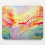 Angel in Heaven Aura Silk Art Painting Mouse Pad