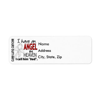 Angel In Heaven Dad Lung Cancer Label