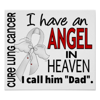 Angel In Heaven Dad Lung Cancer Print