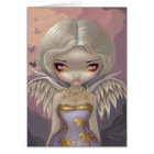 """Angel in Lilac"" Greeting Card"