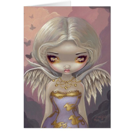 """""""Angel in Lilac"""" Greeting Card"""