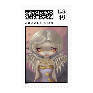 """Angel in Lilac"" Stamp"