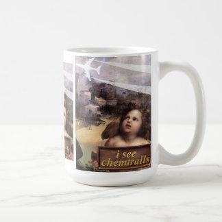 Angel in Madonna of Foligno sees chemtrails Coffee Mug