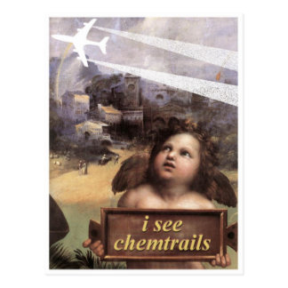 Angel in Madonna of Foligno sees chemtrails Postcard