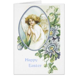 Angel in Oval Frame - Easter Card