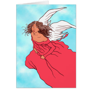 """""""Angel In Red"""" Greeting Card"""